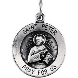 Sterling Silver St. Peter Pendant with Chain