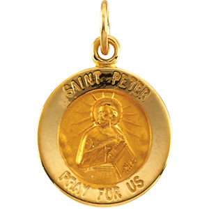 14K Yellow Gold St. Peter Pendant