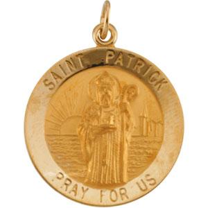 14K Yellow Gold St. Patrick Pendant