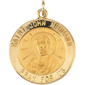 14K Yellow Gold St. John Neumann Pendant