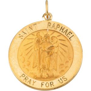 14K Yellow Gold St. Raphael Pendant