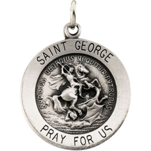 14K Yellow Gold St.George Pendant