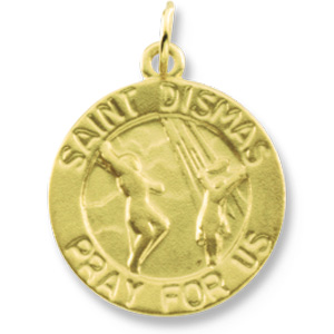 14K Yellow Gold St. Dismas Pendant