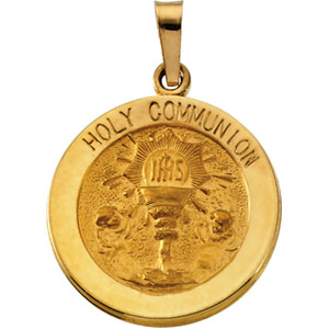 14K Yellow Gold Holy Communion Pendant