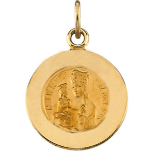 14K Yellow Gold St.Anne De Beaupre Pendant