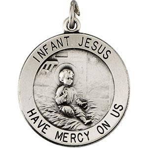 14K Yellow Gold Infant Jesus Pendant