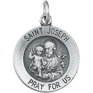 Sterling Silver St. Joseph Pendant with Chain