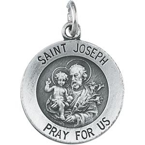 White Gold St.Joseph Pendant
