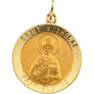 14K Yellow Gold St. Nicholas Pendant