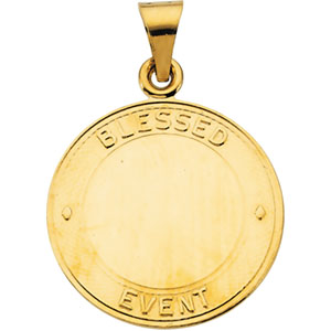 14K Yellow Gold Blessed Event Pendant