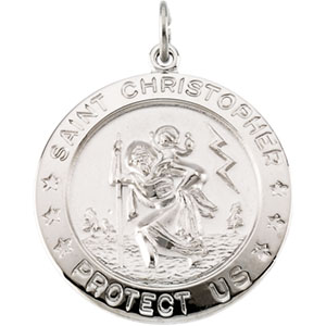 Sterling Silver St. Christopher Pendant with Chain