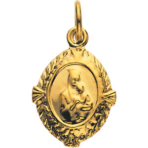 14K Yellow Gold Our Lady Of Perpetual Help Med