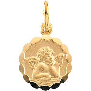14K Gold Angel Pendant