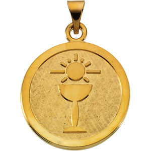 14K Yellow Gold Blessed Sacrament Pendant