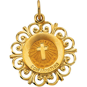14K Yellow Gold Confirmation Pendant