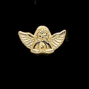 White Gold Praying Angel Lapel Pin