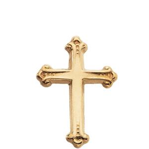 14K Gold Cross Lapel Pin