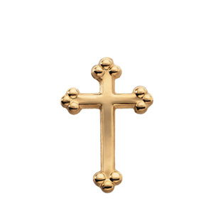 14K Gold Cross Lapel Pin