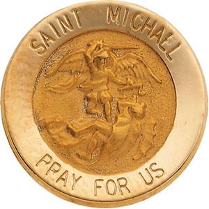 14K Gold St. Michael Lapel Pin
