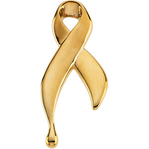 14K Yellow Gold Ribbon Of Tears
