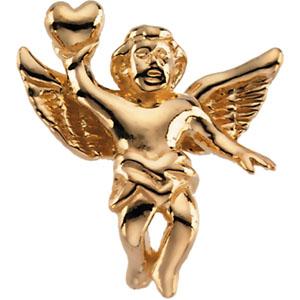 14K Gold Angel Lapel Pin