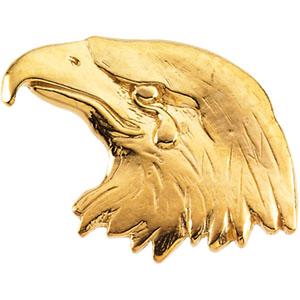 14K White Gold Eagle Lapel Pin