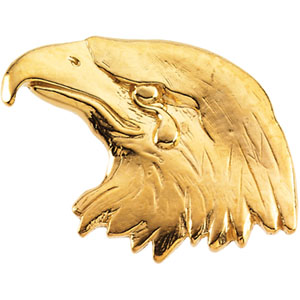 Sterling Silver Eagle Lapel Pin with Chain
