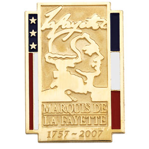 14K Yellow Gold Marquise De Lafayette Pin