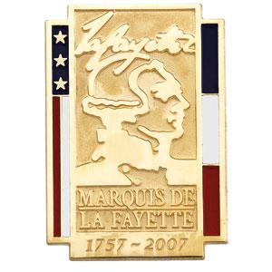 14K White Gold Marquise De Lafayette Pin