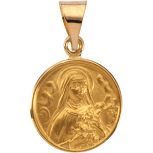 18K Yellow St. Theresa Pendant