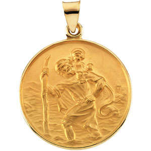 18k yellow st christopher medal at catholic shop 18k yellow st christopher pendant aloadofball Choice Image