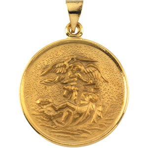 18K Yellow St. Michael Pendant