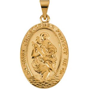 14K Yellow Gold St. Christopher Pendant