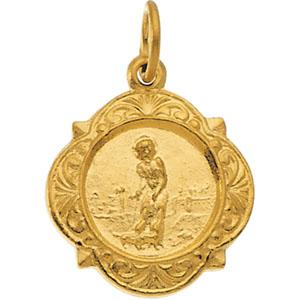 14K Yellow Gold St.Lazarus Pendant