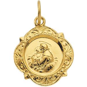 14K Yellow Gold St. Anthony Pendant