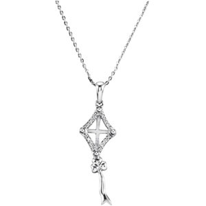 Sterling Silver Kite Necklace with CaRound & Box