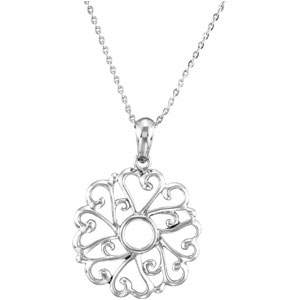 Sterling Silver Rem I Lov You (Young) Pdt with Ch