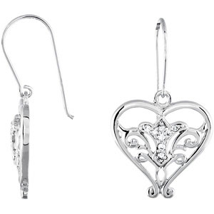 Sterling Silver Pure In Heart Ear with CaRound & Box