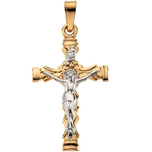 14K Yellow Gold Crucifix Pendant