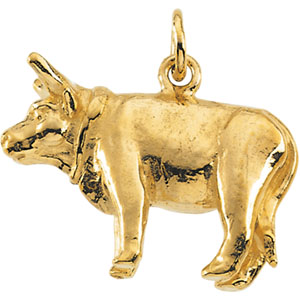 Sterling Silver Ox Pendant with Chain