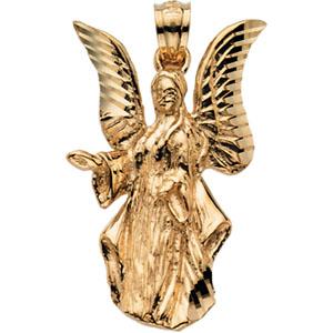 14K Yellow Gold Angel Pendant