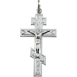 Sterling Silver St. Andrew Cross with Chain