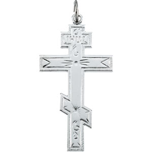Sterling Silver St. Andrews Cross with Chain