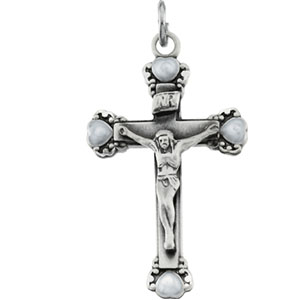 Sterling Silver Pendant Crucifix with Chain