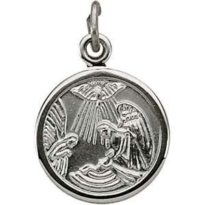Sterling Silver Baptismal Metal with Chain