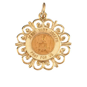 14K Yellow Gold Altagracia Holy Fmly Pendant Pendant