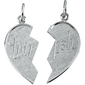 Sterling Silver Miz Pah Pend with Chain