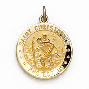 14K Yellow Gold St. Christopher Us Air Force M