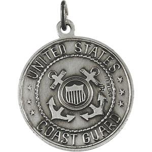 Sterling Silver St. Christopher/Us Coast Guard with Chain