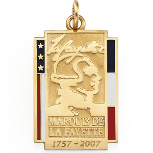 14K White Gold Marquise De Lafayette Pendant